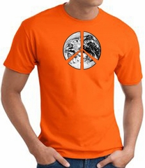 Peace Shirt Peace Earth Satellite Image Tee Orange