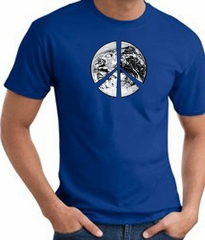 Peace Shirt Peace Earth Satellite Image Tee Royal