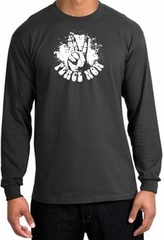 Peace Shirt Peace Now Retro Long Sleeve Tee Charcoal