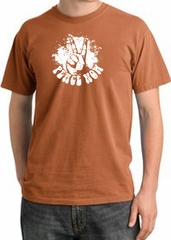 Peace Shirt Peace Now Retro Pigment Dyed Tee Burnt Orange