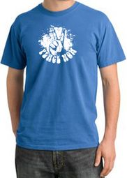 Peace Shirt Peace Now Retro Pigment Dyed Tee Medium Blue