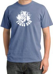Peace Shirt Peace Now Retro Pigment Dyed Tee Night Blue