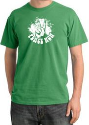 Peace Shirt Peace Now Retro Pigment Dyed Tee Piper Green