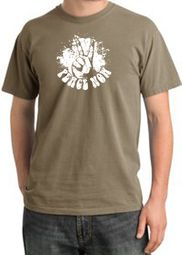 Peace Shirt Peace Now Retro Pigment Dyed Tee Sandstone