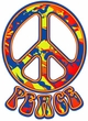 Peace Sign FUNKY 70s Love Symbol Retro T-shirt