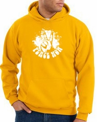Peace Sign Hoodie Come Together Hoody Gold