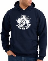 Peace Sign Hoodie Come Together Hoody Navy