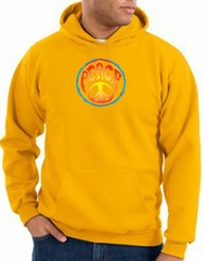 Peace Sign Hoodie Psychedelic Peace Hoody Gold