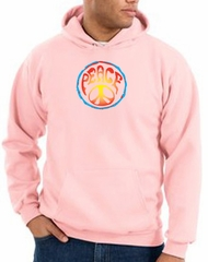 Peace Sign Hoodie Psychedelic Peace Hoody Pink