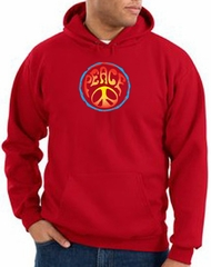 Peace Sign Hoodie Psychedelic Peace Hoody Red