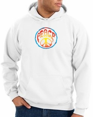 Peace Sign Hoodie Psychedelic Peace Hoody White