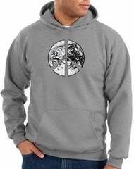 Peace Sign Hoodie Sweatshirt Earth Satellite Image Heather Hoody