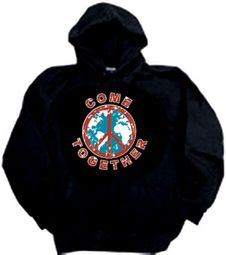 Peace Sign Hoodies Hooded Sweatshirts - Come Together Adult Hoody