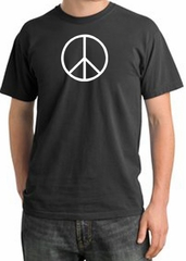 Peace Sign Shirt Basic Peace White Print Pigment Dyed Tee Dark Smoke
