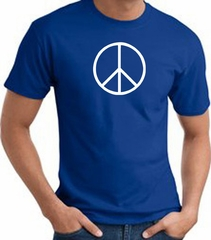 Peace Sign Shirt Basic Peace White Print Tee Royal