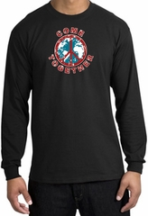 Peace Sign Shirt Come Together Long Sleeve Tee Black