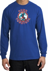 Peace Sign Shirt Come Together Long Sleeve Tee Royal