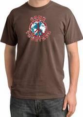 Peace Sign Shirt Come Together Pigment Dyed Tee Chestnut