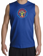 Peace Sign Shirt Psychedelic Peace Muscle Shirt Royal