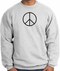 Peace Sign Sweatshirt Basic Peace Black Print Sweatshirt Ash