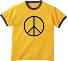 Peace Sign Symbol Ringer T-shirt