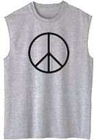 Peace Sign Symbol Sleeveless Tee