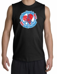 Peace Sign T-shirt All You Need Is Love Muscle Shirt Black