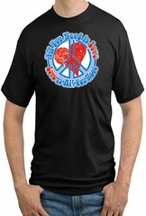 Peace Sign T-shirt - All You Need is Love Peace Sign Adult Tall Sizes