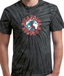 Peace Sign T-shirt - Give Peace A Chance Adult Black Swirl Tee