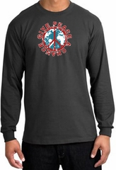 Peace Sign T-shirt Give Peace A Chance Long Sleeve Tee Charcoal