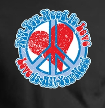 Peace Sign T-shirts - All You Need Is Love Shirts