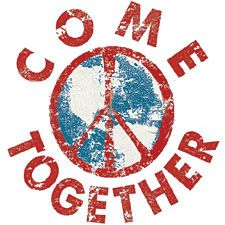 Peace Sign T-shirts - Come Together Symbol