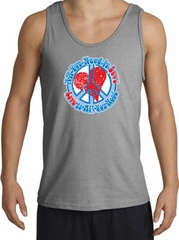 Peace Sign Tanktop - All You Need Is Love Adult - Sport Grey
