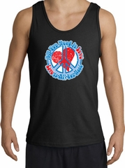 Peace Sign Tanktop - All You Need Is Love Adult Tank Top - Black