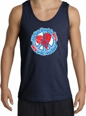Peace Sign Tanktop - All You Need Is Love Adult Tank Top - Navy