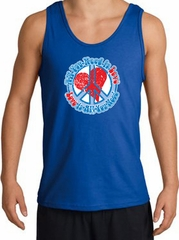 Peace Sign Tanktop - All You Need Is Love Adult Tank Top - Royal