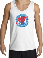 Peace Sign Tanktop - All You Need Is Love Adult Tank Top - White