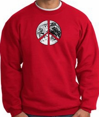 Peace Sweatshirt Peace Earth Satellite Image Sweatshirt Red