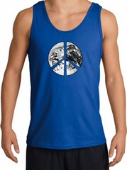 Peace Tank Top Peace Earth Satellite Image Tanktop Royal
