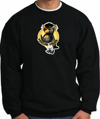 PENGUIN POWER Athletic Gym Workout Adult Sweatshirt - Black
