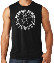 Mens Penguin Power Fitness Muscle Tank Top