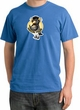 Penguin Power Shirt Athletic Gym Workout Pigment Dyed Tee Medium Blue