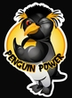 Penguin Power Shirt Athletic Gym Workout Ringer Tee Heather Grey/Navy