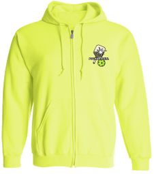 High Visibility Pickleball Hooded Sweatshirt with Zipper