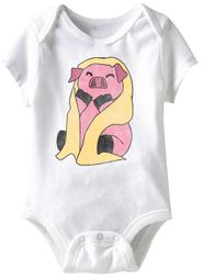 Pig In A Blanket Funny Baby Romper White Infant Babies Creeper