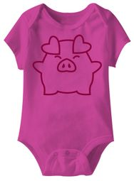 Piggy Hugs With It Funny Baby Romper Hot Pink Infant Babies Creeper
