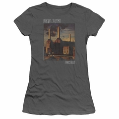 Pink Floyd Juniors Shirt Faded Animals Charcoal T-Shirt