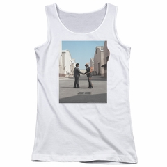 Pink Floyd Juniors Tank Top Wish You Were Here White Tanktop