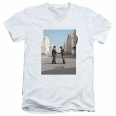 Pink Floyd Slim Fit V-Neck Shirt Wish You Were Here White T-Shirt