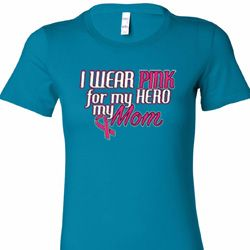 Pink For My Hero Ladies Breast Cancer Awareness Shirts